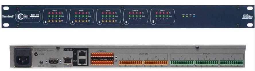 英国BSS BLU-160  16路输入/输出网络音频矩阵处理器